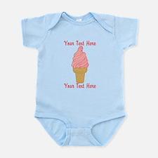 Personalized Pink Ice Cream Onesie