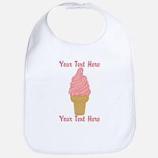 Personalized Pink Ice Cream Bib