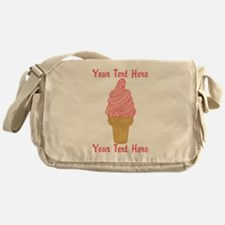 Personalized Pink Ice Cream Messenger Bag