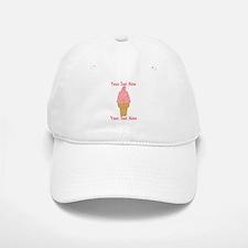 Personalized Pink Ice Cream Baseball Baseball Cap