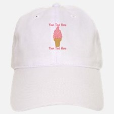 Personalized Pink Ice Cream Hat