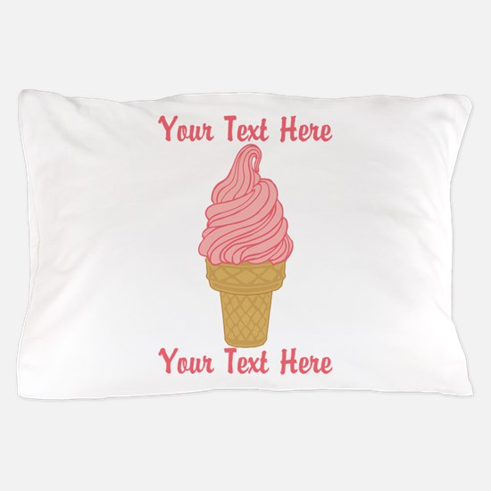 Personalized Pink Ice Cream Pillow Case