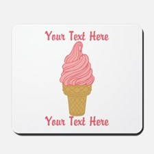 Personalized Pink Ice Cream Mousepad