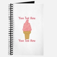 Personalized Pink Ice Cream Journal