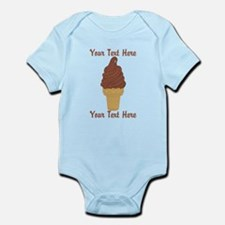 Personalized Chocolate Ice Cream Infant Bodysuit