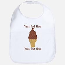 Personalized Chocolate Ice Cream Bib