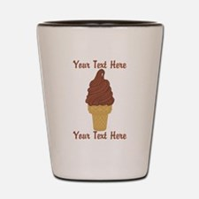 Personalized Chocolate Ice Cream Shot Glass