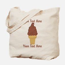 Personalized Chocolate Ice Cream Tote Bag