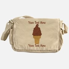 Personalized Chocolate Ice Cream Messenger Bag