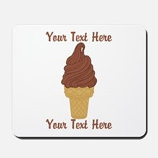 Personalized Chocolate Ice Cream Mousepad
