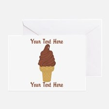 Personalized Chocolate Ice Cream Greeting Card
