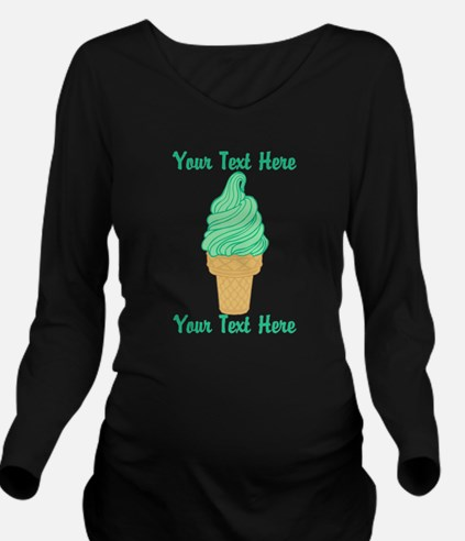 Personalized Mint Ic Long Sleeve Maternity T-Shirt