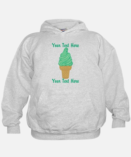 Personalized Mint Ice Cream Hoodie