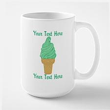 Personalized Mint Ice Cream Large Mug