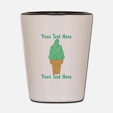 Personalized Mint Ice Cream Shot Glass