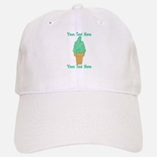 Personalized Mint Ice Cream Baseball Baseball Cap