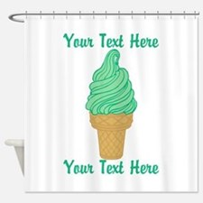 Personalized Mint Ice Cream Shower Curtain