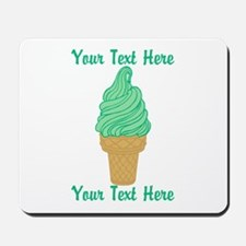 Personalized Mint Ice Cream Mousepad