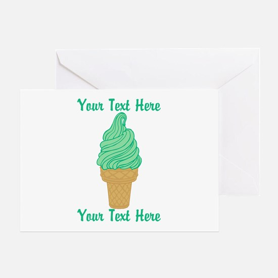 Personalized Mint Ice Cream Greeting Card