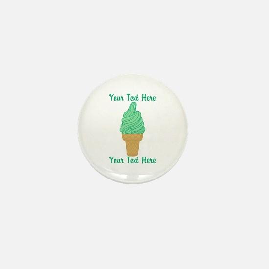Personalized Mint Ice Cream Mini Button