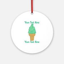 Personalized Mint Ice Cream Ornament (Round)