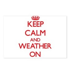 Keep Calm and Weather ON Postcards (Package of 8)