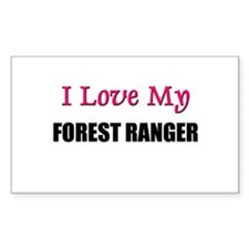 I Love My FOREST RANGER Rectangle Decal
