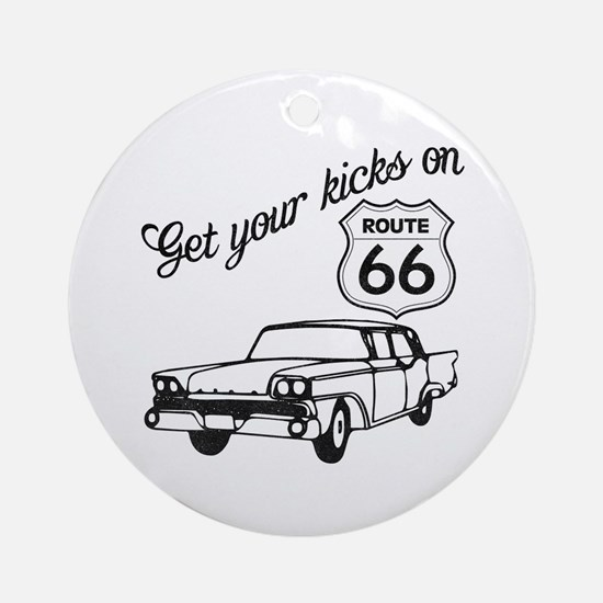 Get your kicks on Route 66 Ornament (Round)