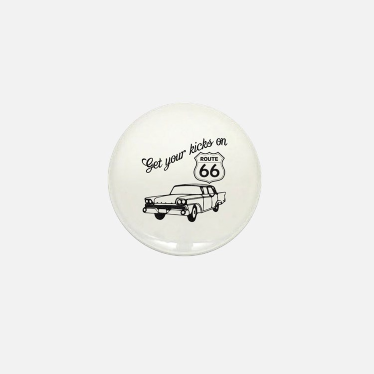 Get your kicks on Route 66 Mini Button