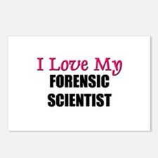 I Love My FORENSIC SCIENTIST Postcards (Package of