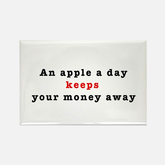 An apple a day Rectangle Magnet