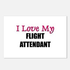 I Love My FLIGHT ATTENDANT Postcards (Package of 8