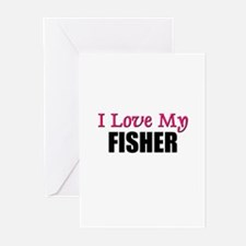 I Love My FISHER Greeting Cards (Pk of 10)