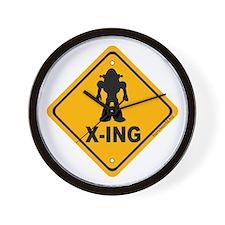 Robot X-ing Wall Clock