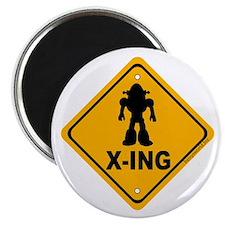 """Robot X-ing 2.25"""" Magnet (10 pack)"""