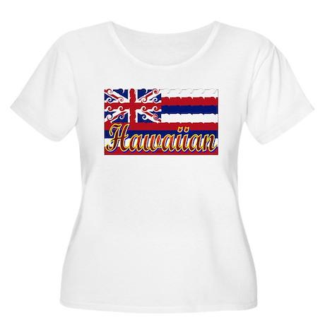 Hawaiian Styling Flag Women's Plus Size Scoop Neck