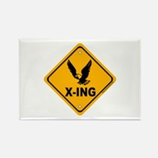 Eagle X-ing Rectangle Magnet (10 pack)