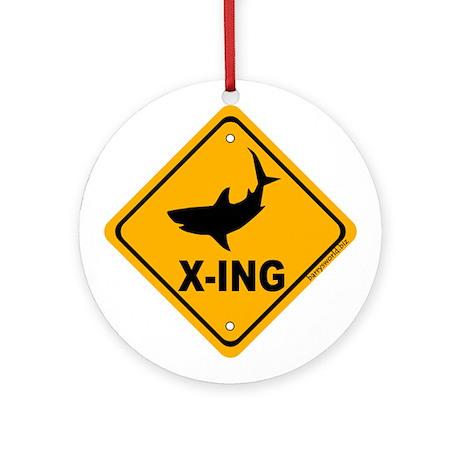 Shark X-ing Ornament (Round)