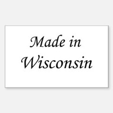 Wisconsin Rectangle Decal
