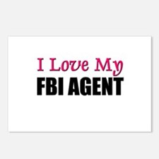 I Love My FBI AGENT Postcards (Package of 8)