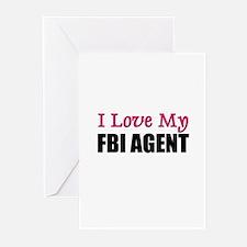 I Love My FBI AGENT Greeting Cards (Pk of 10)
