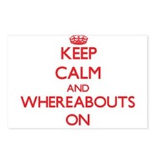 Keep Calm and Whereabouts Postcards (Package of 8)