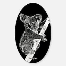Midnight Koala Oval Decal