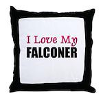 I Love My FALCONER Throw Pillow