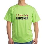 I Love My FALCONER Green T-Shirt