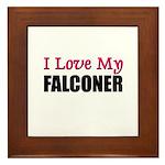 I Love My FALCONER Framed Tile