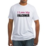 I Love My FALCONER Fitted T-Shirt