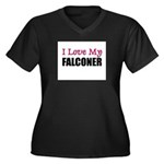 I Love My FALCONER Women's Plus Size V-Neck Dark T