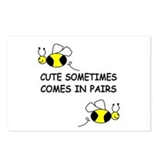 CUTE SOMETIMES COMES IN PAIRS Postcards (Package o