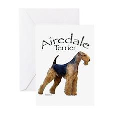 Airfedale Terrier-2 Greeting Card
